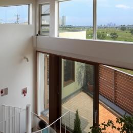 眺めの良いルーフテラスの家 (ロフトからの景観)