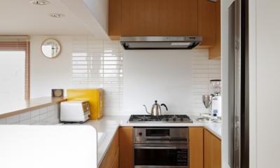 眺めの良いルーフテラスの家 (コンパクトなキッチン)