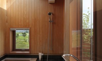 眺めの良いルーフテラスの家 (畳敷きの浴室)