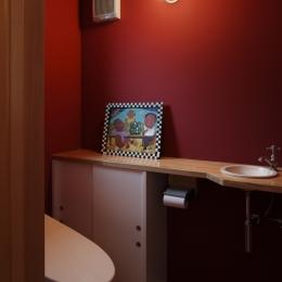 眺めの良いルーフテラスの家 (トイレ)