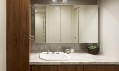 リゾートホテルのような贅沢空間 (洗面室)