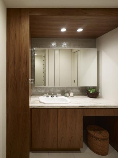 洗面室 (リゾートホテルのような贅沢空間)