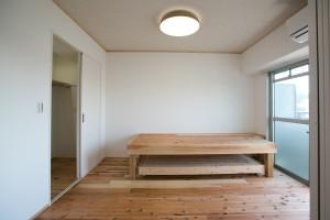 墨田区 S邸の部屋 自然素材(杉)が心地よい寝室