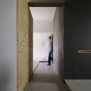シキリの形の写真 玄関土間