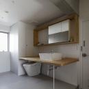 シキリの形の写真 トイレ