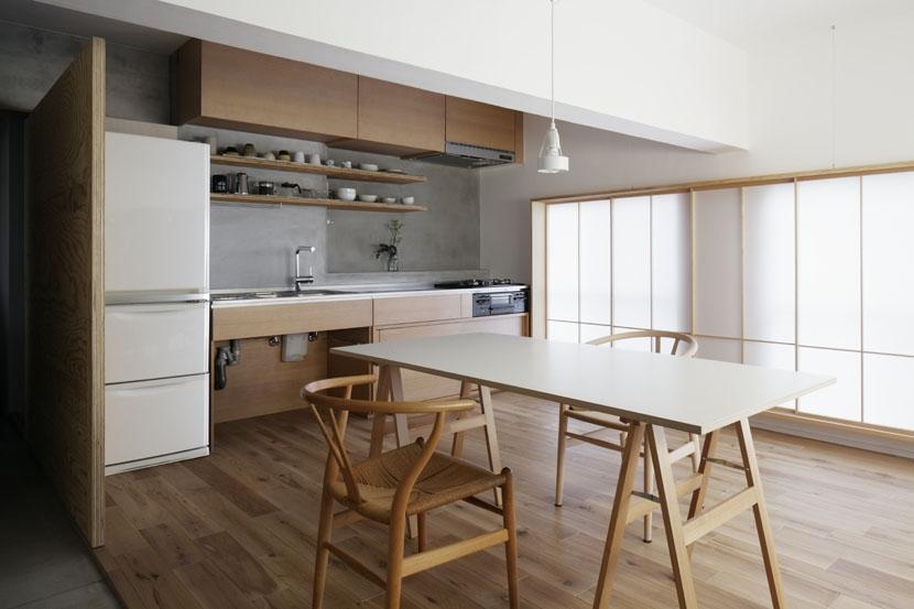 「シキリの形」-鶴川のリノベーション-の写真 ダイニング・キッチン