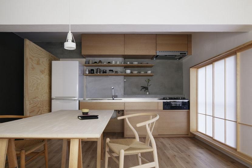 「シキリの形」-鶴川のリノベーション-の写真 キッチン