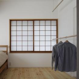 「シキリの形」-鶴川のリノベーション- (寝室)