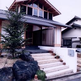 A邸 (造園家の家) (アプローチ 外観)