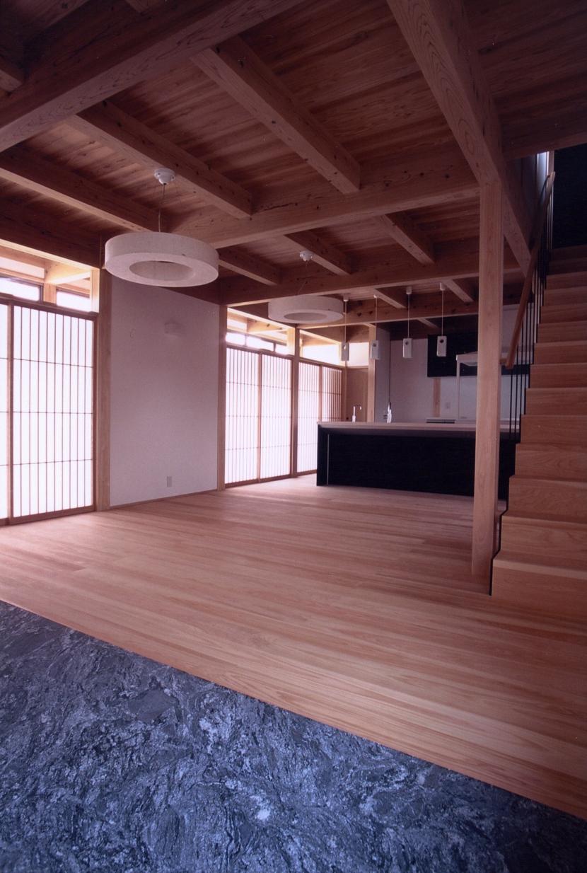 A邸 (造園家の家)の部屋 リビングルーム