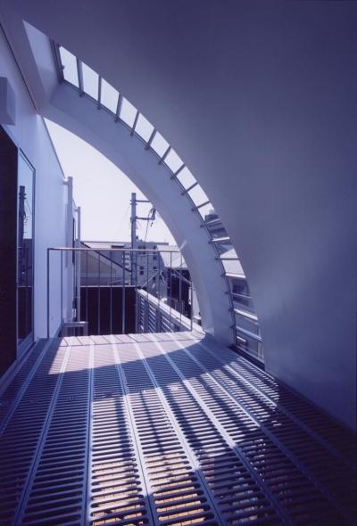 曲面屋根 (A邸 (専用住宅))