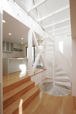 S邸 (専用住宅) (階段見上げ)