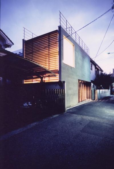 S邸 (専用住宅) (外観 夜景)