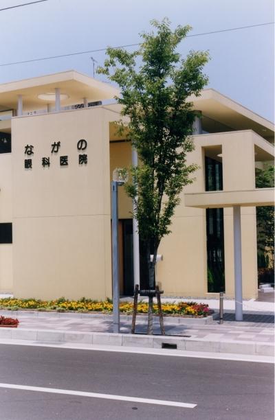 N眼科医院・N邸  (眼科医院・オーナー宅) (医院 エントランス)