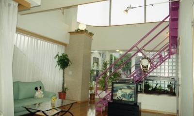 都心地の鉄骨3階建て戸建住宅-N (居間)