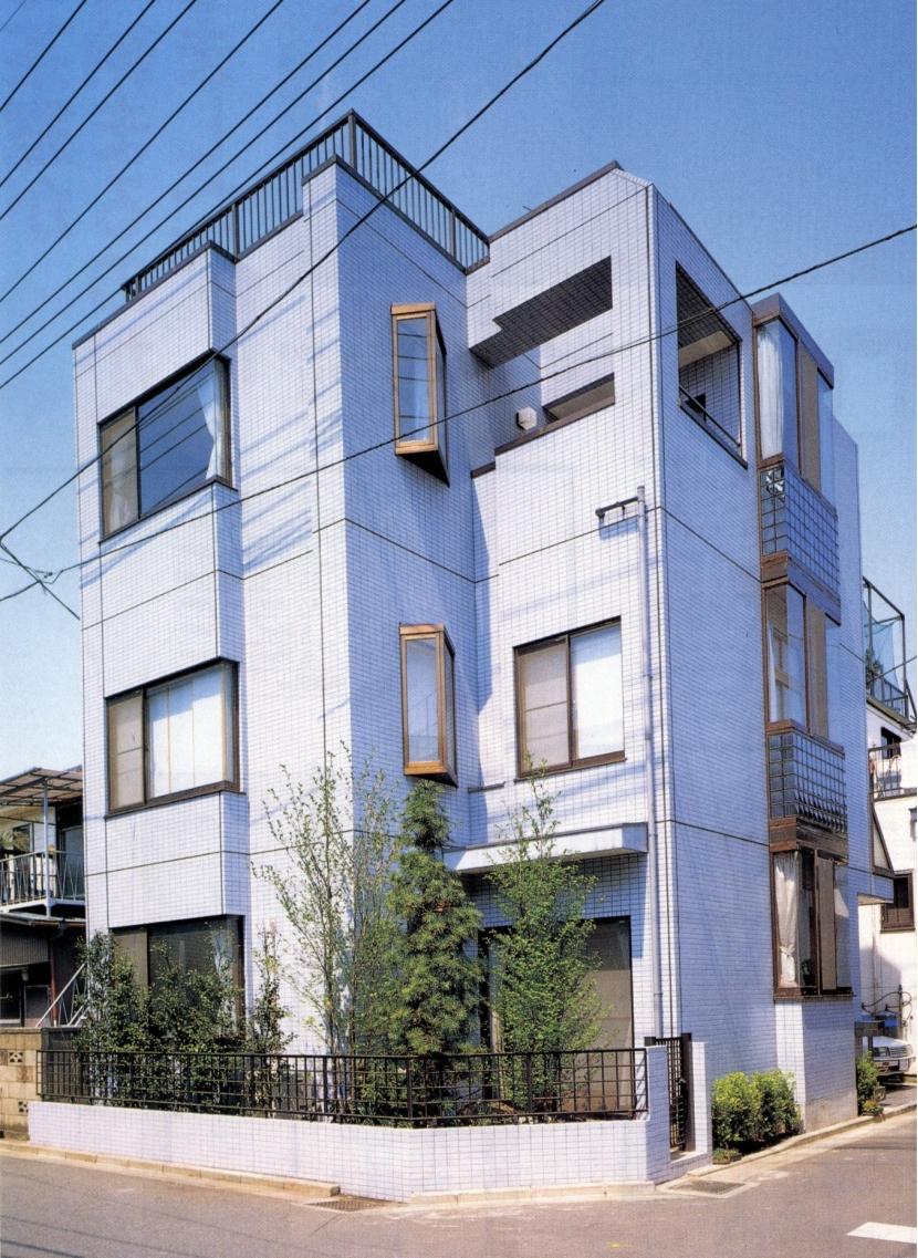 既成市街地の鉄骨3階住宅-K (外観)
