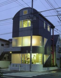 都心地の鉄骨3階建て戸建住宅-N (外観)