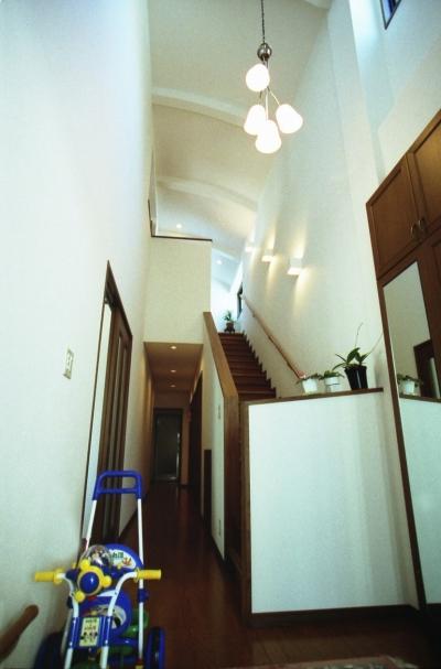 玄関 (二世帯住宅+家業のオフィス付き-Ma)