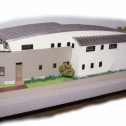 二世帯住宅+家業のオフィス付き-Ma (模型写真-1)