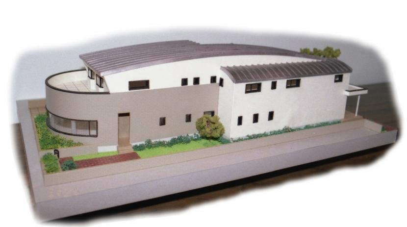 二世帯住宅+家業のオフィス付き-Maの部屋 模型写真-1