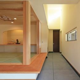 癒しの森の中の平屋住宅 (土間(タタキ))
