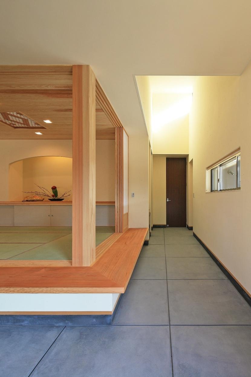 癒しの森の中の平屋住宅の部屋 土間(タタキ)