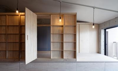 勾配天井の家 -いえづくりワークショップとDIY施工の参加型リノベ- (ノビルーム)
