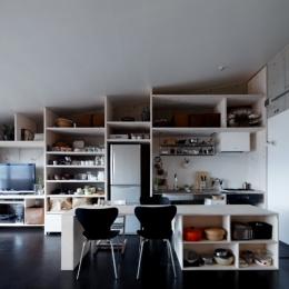 壁面全面造作家具キッチン