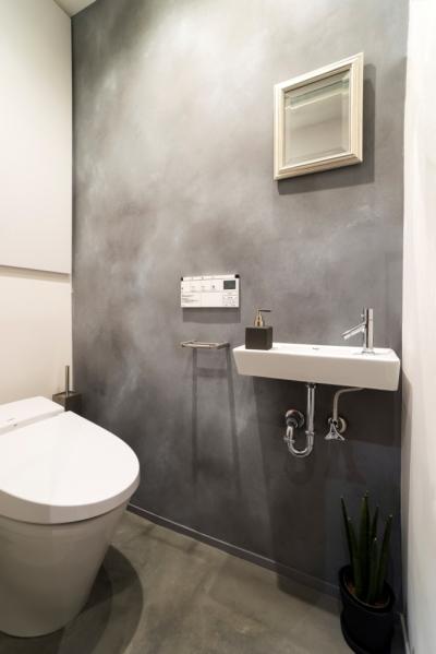 トイレ (ヨーロピアンとオリエンタル、モダンが融合した、高級感あるラウンジのような空間)