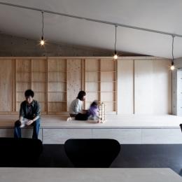 勾配天井の家 -いえづくりワークショップとDIY施工の参加型リノベ- (コアガリ)