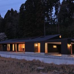 癒しの森の中の平屋住宅 (外観)