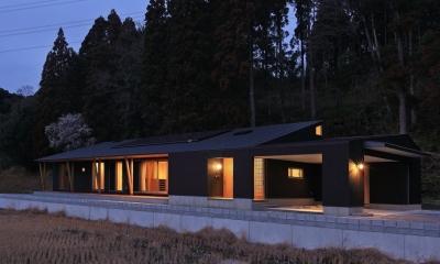 癒しの森の中の平屋住宅