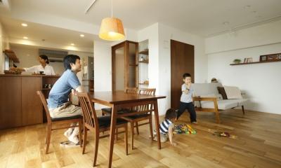 H邸・家族の笑顔にあふれる快適な住まい (リビングダイニング)