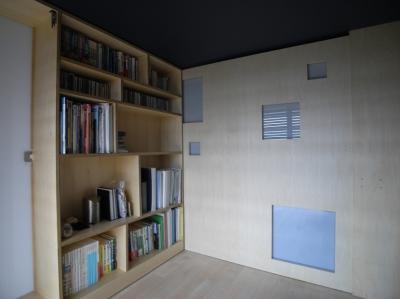 寝室 (可動本棚の家 -可動家具・可動間仕切りで間取りの変わる家-)