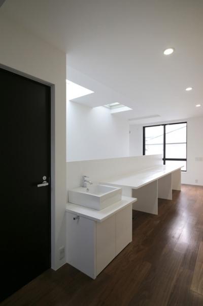 歯磨きコーナー (ハコノオウチ04 2.5世帯住宅)