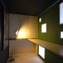 久保和樹の住宅事例「可動本棚の家 -可動家具・可動間仕切りで間取りの変わる家-」