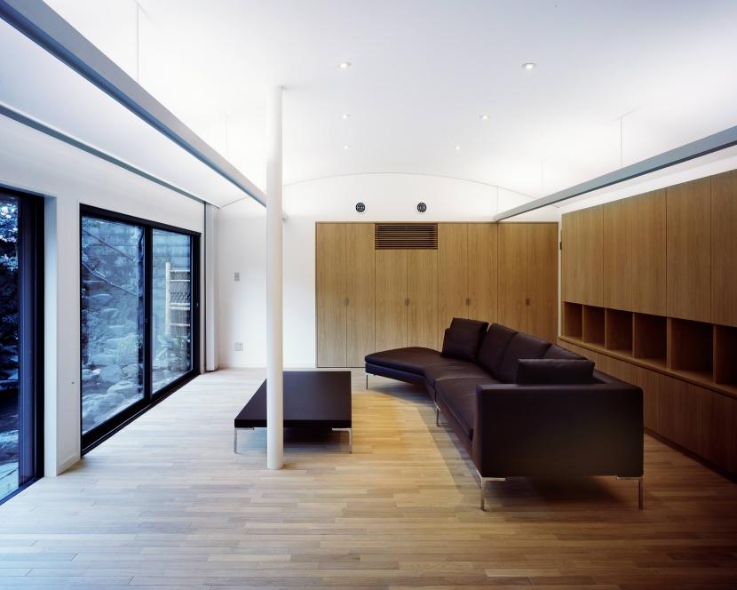湯島Sハウスの写真 リビングR天井と間接照明