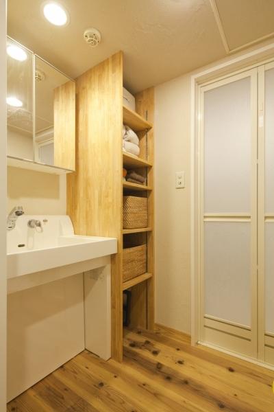 洗面室 (東京都新宿区I様邸 ~体で感じる自然素材の住まい~)