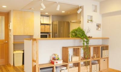 東京都新宿区I様邸 ~体で感じる自然素材の住まい~ (キッチンカウンター)