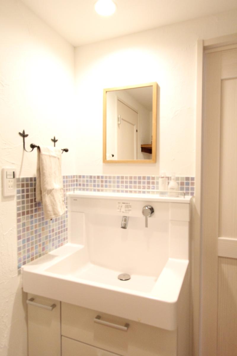 築30年の団地リノベーションの部屋 洗面台