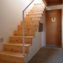 玄関を広くする階段