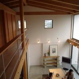 群馬県邑楽町・土間リビングの家|A house (気配を伝える大きな吹抜け)