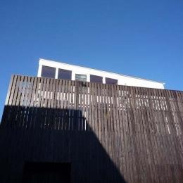 群馬県館林市・ソラを取り込んだ住まい|空の家 (板張りの外壁でプライバシーを確保)