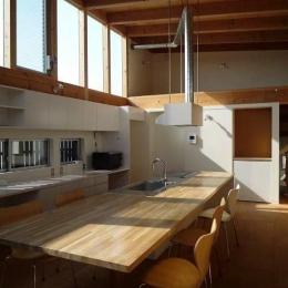 群馬県館林市・ソラを取り込んだ住まい|空の家 (2階リビング)