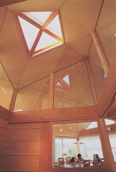 螺旋階段上部のトップライト (多目的な土間空間のある家|NAK HOUSE)