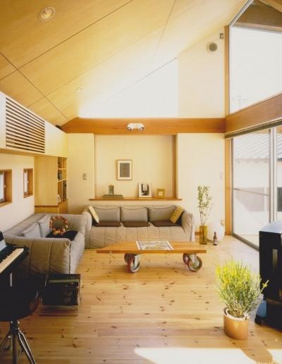 2階リビング (多目的な土間空間のある家|NAK HOUSE)