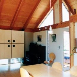 埼玉県羽生市・30坪の敷地に建つ6人家族の家|かなちゃんち (2階リビングとキッチン)