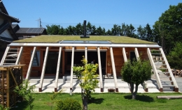 群馬県太田市・芝屋根住宅-1|mat house (芝生の屋根を持つ天然エコな住まい)