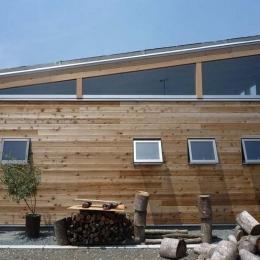 大地に根付く家|mat house-無垢板の外壁