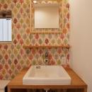 K邸・音楽室のある光あふれる小さなお家の写真 洗面台